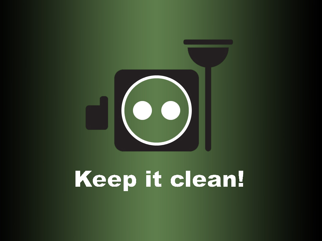 """Keep it clean!"" Wallpaper"