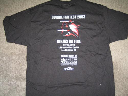 Fanfest 2003 Halo 2 T-Shirt Back