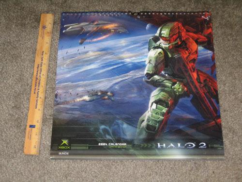 Halo 2 LARGE 2004 Calendar (sealed)