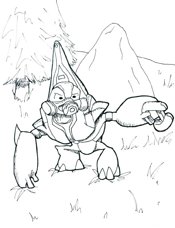 Halo 4 grunts free coloring pages for Halo 3 coloring pages