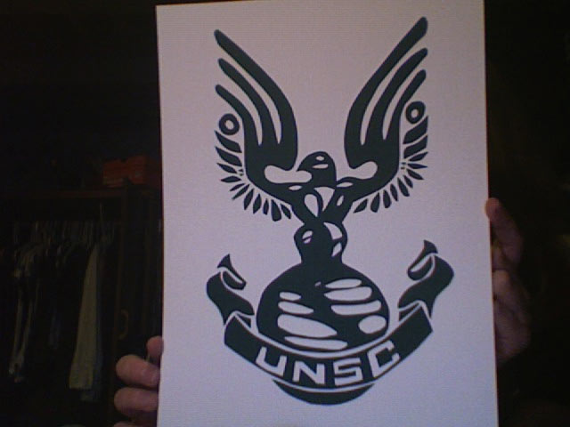 Halo Unsc Symbol The unsc logo - writ large